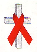 The internation symbol of solidarity with AIDS victims